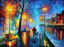 Painting Canvas Melody Of The Night Palette Knife Oil Painting On Abstract