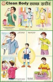 Clean Body For Health Hygiene Chart