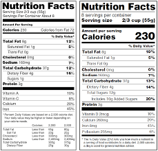 fda s proposal to update nutrition facts label american society for nutrition