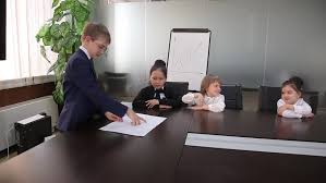the office the meeting. Business Children Spend A Meeting In The Office - HD Stock Footage Clip T