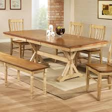 erfly dining table intended for winners only quails run 84 in trestle with 18 decor 2