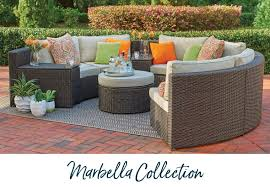 marbella furniture collection. Our Curved Modular Patio Collection Is A Customizable Deep Seat Design That\u0027s Shaped For Socializing. Constructed With Flat Weave Resin Wicker In Marbella Furniture