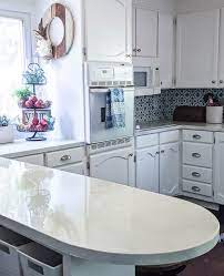 how my painted countertops look after 3