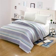 Kurze Mode Stil Blau Weiß Plaid Streifen Bettbezug Farben Gedruckt