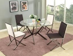 beveled edge round modern glass dining table with four chairs beveled edge round glass dining table