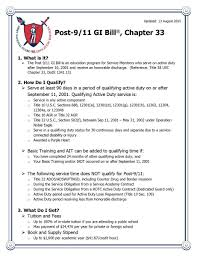 New Post 9 11 Gi Bill Rates This Flyer Reflects The New