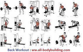 Gym Biceps Workout Chart Back Workout Back Workout Routine Gym Back Workout Gym