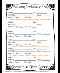 student conference form forever in fifth grade january 2014