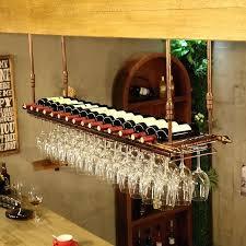 floating shelf wine glass holder