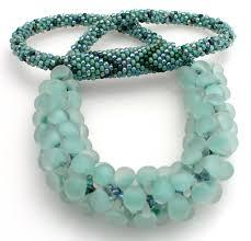 Design And Adorn Beading Studio Kumihimo Necklace With Glass Teardrop Beads Kumihimo