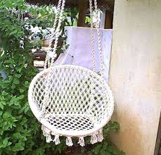 hammock swing chair stand diy hanging rope round