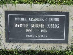 Myrtle Minnie Winston Fields (1930-1993) - Find A Grave Memorial