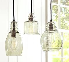 kitchen single pendant lights great over sink lighting pottery barn glass single pendants hand blown glass