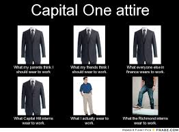 Capital One attire... - Meme Generator What i do via Relatably.com