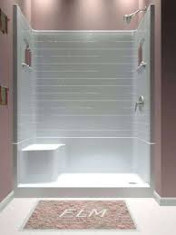 shower stalls with seats. Shower Stall Seat Corner Extraordinary 4 Piece Kit With Additional Simple Design Decor . Stalls Seats E