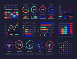Modern Graphic Data Chart Infographic Dashboard Design