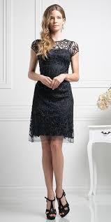 Cinderella Divine 1921 Semi Formal Knee Length Lace Cream Dress