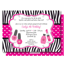 Glamour Spa Party Invitation