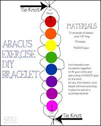 How To Make An Abacus Exercise Lap Counting Bracelet Ideas