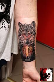 Wolf Forest Tattoo татуировка в языческом стиле волк