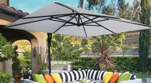 outdoor metal patio umbrella