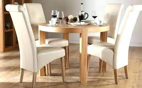 small white round kitchen table set with 4 chairs gloss and circle dining for