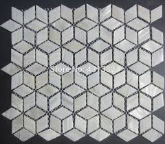 rhombus shell mosaic tiles 42 24 naural pure white mother of pearl tiles kitchen backsplash bathroom wall flooring tiles naural pure white mother of pearl