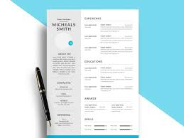 resume templ modern psd resume template free resumekraft