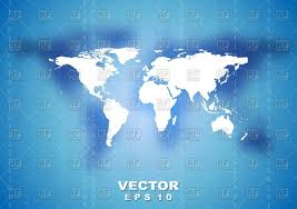 Abstract Tech World Map Background Stock Vector Image