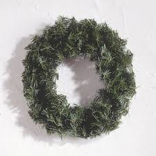 a functional large artificial wreaths cute image of simple round dark green canadian pine