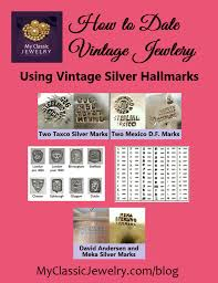 silver jewelry marks learn to identify and date silver jewelry vine silver hallmarks