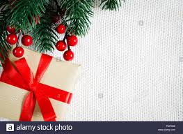 Blank Christmas Background Christmas Background With Decorations And Gift Boxes On Knitted
