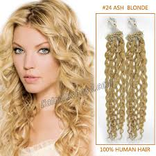 Curly Blonde Tape Hair Extensions