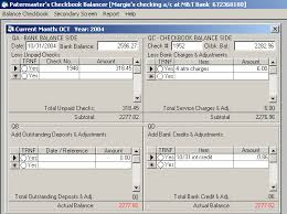 check balancing software whizbal patented software americas simplest checkbook balancing in