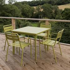 garden set. Delighful Garden 4 Seat Florence Dining Set  Green Intended Garden Set R