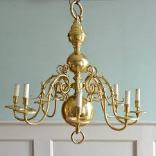 brass chandelier in the flemish taste
