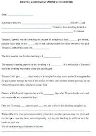 Simple Rental Lease Agreement Rental Lease Template