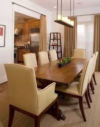 Dining Room: Cream Leather Dining Chairs With Arms With Long
