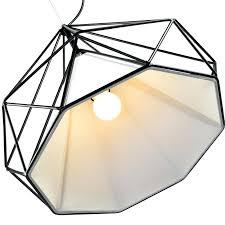 birdcage chandeliers modern minimalist art pyramid iron chandelier creative restaurant lights in from lighting on artists