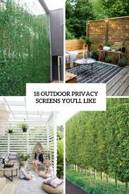 18 Outdoor Privacy Screens You'll Like
