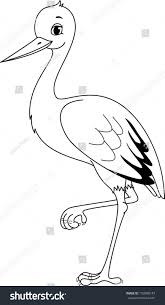 Small Picture Stork Coloring Page Stock Vector 193608143 Shutterstock