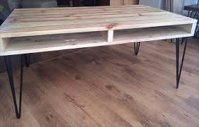 Outstanding Coffee Table Legs Diy 54 Hairpin Legs Coffee Table Diy Pallet Coffee Table With Hairpin Legs