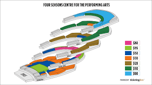Four Seasons Centre Performing Arts Toronto Seating Chart Toronto Four Seasons Centre For The Performing Arts Seating
