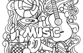 Music Coloring Pages Roomhiinfo