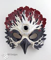 Cool Mask Designs Game Of Thrones Three Eyed Raven Leather Mask 3 By