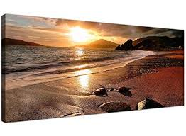 interior wide wall art encourage 3 piece yellow ocean photo canvas decor pertaining to 4 on 72 wide wall art with wide wall art attractive wallfillers canvas prints of a beach sunset