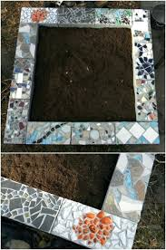 diy mosaic cinder block raised garden bed round table top
