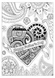 father s day coloring page with beautiful patterns