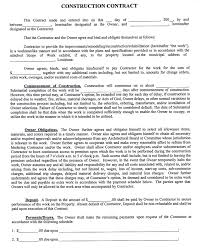 Sample Contract Templates Construction Contract Template Oninstall 15