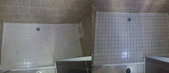 uneven floor of a shower bad tiling an example of a very bad tiling job sealed and repaired